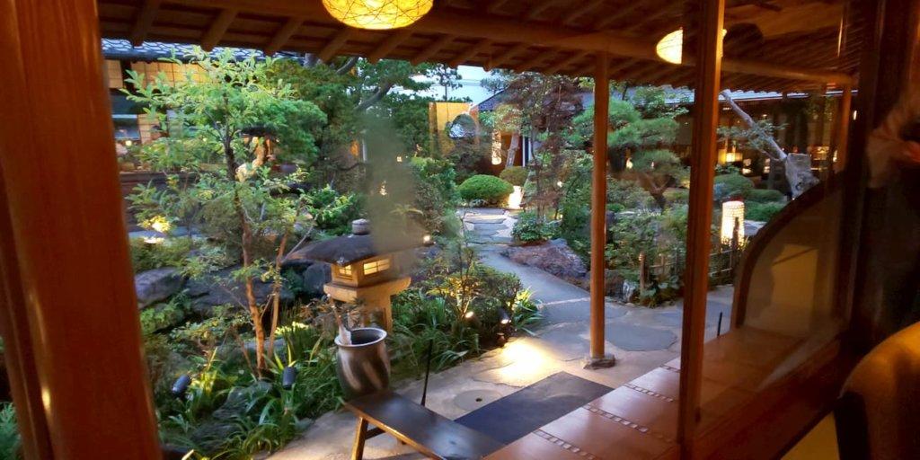 個室から見えるお庭