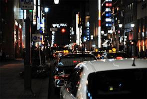 タクシー風景